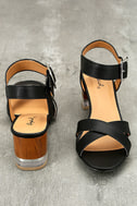 Blaire Black High Heel Sandals 2