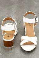 Blaire White High Heel Sandals 2