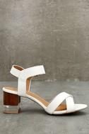 Blaire White High Heel Sandals 3