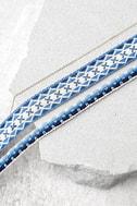 Aspen Blue Embroidered Choker Necklace Set 2