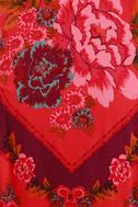 Free People This Sweet Love Red Floral Print Crop Top 4
