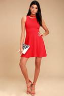 J.O.A. Diana Red Skater Dress 2