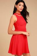 J.O.A. Diana Red Skater Dress 3