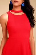J.O.A. Diana Red Skater Dress 4