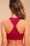 Free People Galloon Racerback Berry Pink Lace Bralette 3