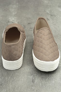 Cosima Natural Quilted Flatform Slip-On Sneakers 2
