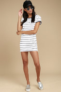 Rhythm Essentials Blue and White Striped Shirt Dress 2