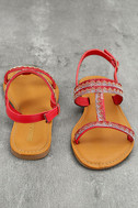 Brielle Red Rhinestone Sandals 2