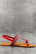 Brielle Red Rhinestone Sandals 3