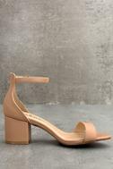 Harper Almond Ankle Strap Heels 3