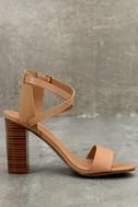 Madelaine Natural High Heel Sandals 3