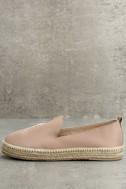 KAANAS Malage Nude Leather Espadrille Loafers 1