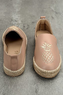 KAANAS Malage Nude Leather Espadrille Loafers 2