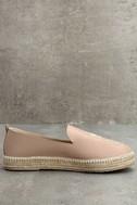 KAANAS Malage Nude Leather Espadrille Loafers 3