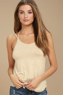 What's Strap-pening? Beige Tank Top 3