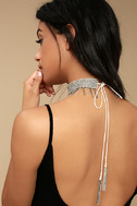 New Friends Colony Saree Ivory Beaded Choker Necklace 2