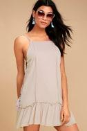 PPLA Gia Light Beige Lace-Up Dress 2