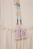 PPLA Gia Light Beige Lace-Up Dress 4