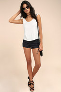 Coolest Girl White Backless Tank Top 2