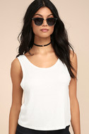 Coolest Girl White Backless Tank Top 3