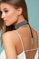 New Friends Colony Saree Black Beaded Choker Necklace 2