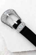 Dearheart Black and Silver Double Buckle Belt 2
