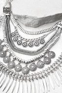 Fortune Teller Silver Layered Choker Necklace 2