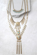 Sundial Gold Layered Necklace 1