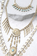 Sundial Gold Layered Necklace 2