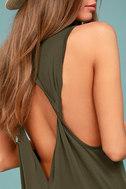 PPLA Pearl Olive Green Midi Dress 3