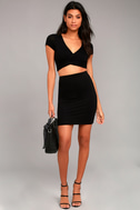 By Your Side Black Two-Piece Dress 2