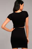 By Your Side Black Two-Piece Dress 3