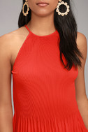Love Forever Red Pleated Tank Top 4