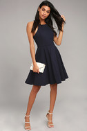 Best of You Navy Blue Midi Dress 2