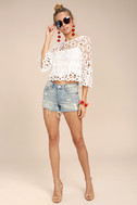 Nearness of You White Crochet Crop Top 2