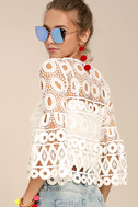 Nearness of You White Crochet Crop Top 3