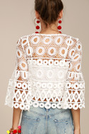 Nearness of You White Crochet Crop Top 4