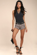 Collectively Cool Washed Mauve Distressed Cutoff Denim Shorts 3