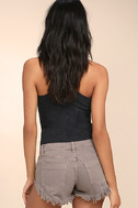 Collectively Cool Washed Mauve Distressed Cutoff Denim Shorts 4