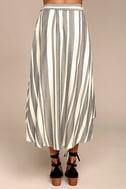 O'Neill X Natalie Off Duty Savi Beige and Black Striped Skirt 3