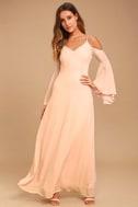 Glamorous Greeting Blush Maxi Dress 9