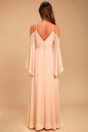Glamorous Greeting Blush Maxi Dress 10