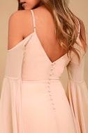 Glamorous Greeting Blush Maxi Dress 11