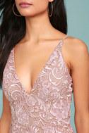 Dress the Population Marie Blush Pink Lace Midi Dress 4