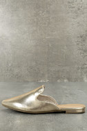 Ember Gold Loafer Slides 2