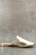 Ember Gold Loafer Slides 4