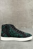Steve Madden Allie Green Multi Embroidered High-Top Sneakers 3