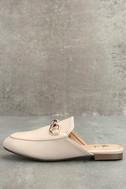 Chantae Beige Loafer Slides 2