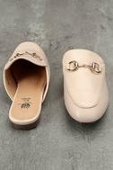 Chantae Beige Loafer Slides 3