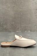Chantae Beige Loafer Slides 4